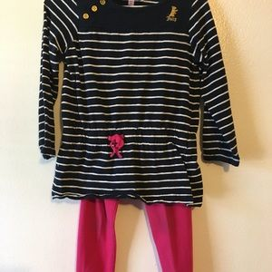 Juicy Couture Navy and Pink Matching Set